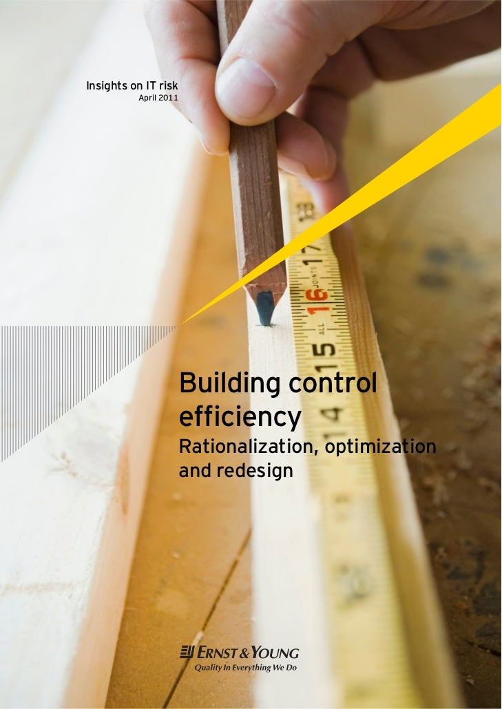 Building control efficiency: Rationalization, optimization and redesign