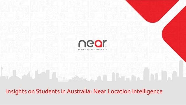 Insights on Students in Australia: Near Location Intelligence