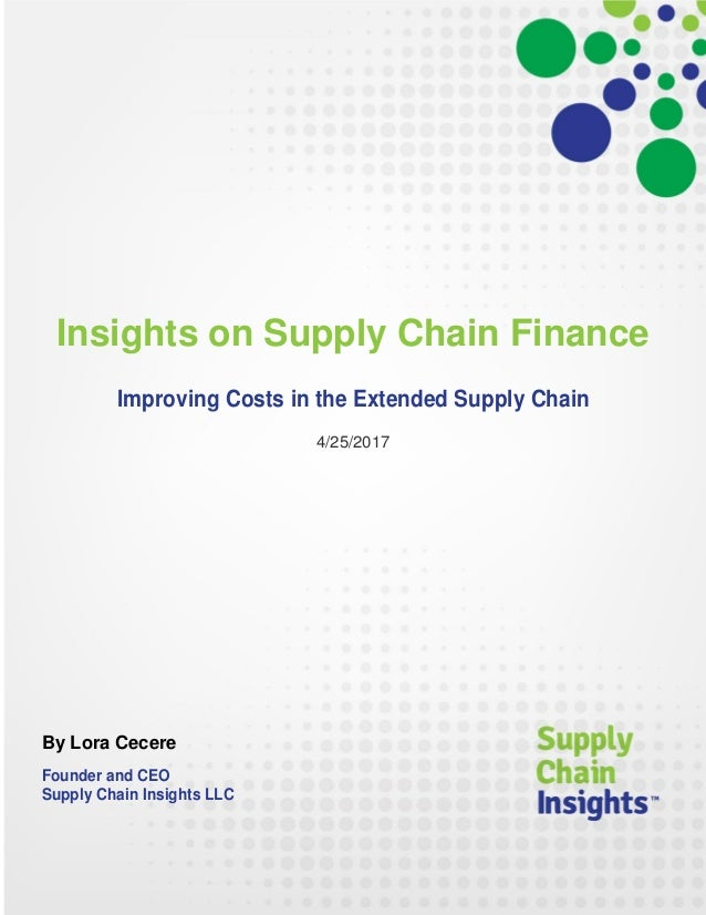 Insights on Supply Chain Finance - 25  APR 2017 - report