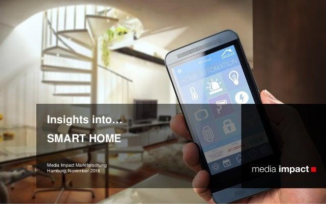 Media Impact Marktforschung Hamburg, November 2016 Insights into… SMART HOME