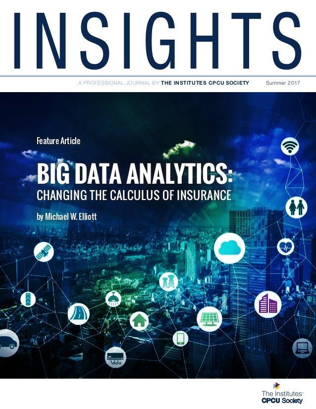 Big Data Analytics Cpcu Insights Summer 2017