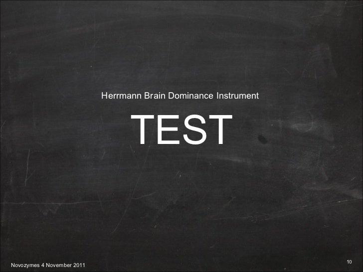 TEST Herrmann Brain Dominance Instrument