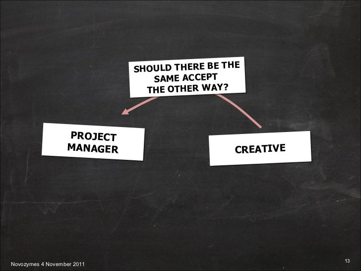 PROJECT MANAGER CREATIVE SHOULD THERE BE THE SAME ACCEPT  THE OTHER WAY?