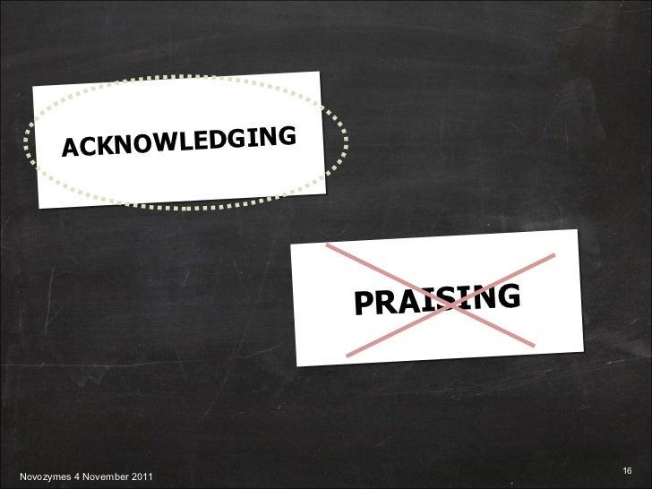 ACKNOWLEDGING PRAISING