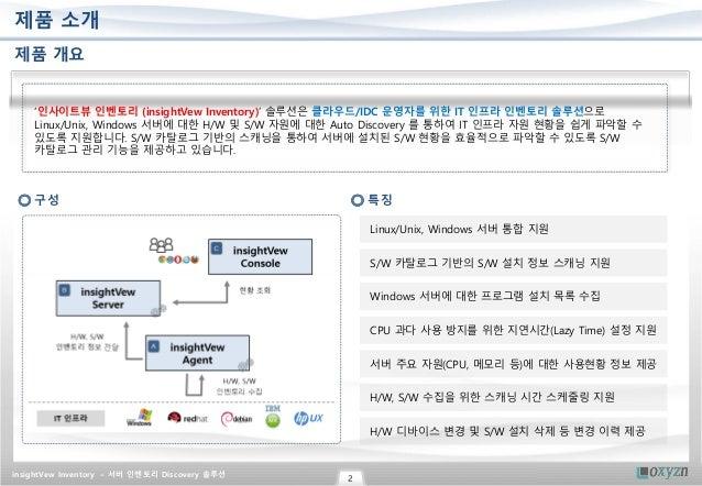 서버 H/W, S/W 인벤토리 Auto Discovery 솔루션 Slide 2