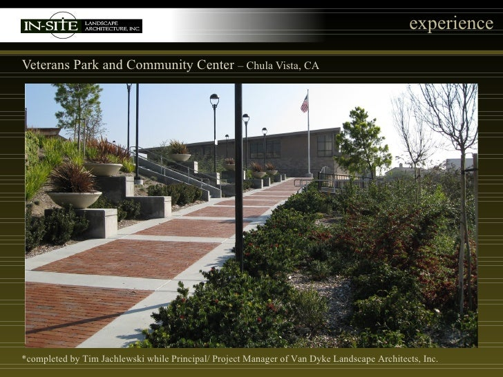 In site landscape architecture inc projects for Van dyke landscape architects
