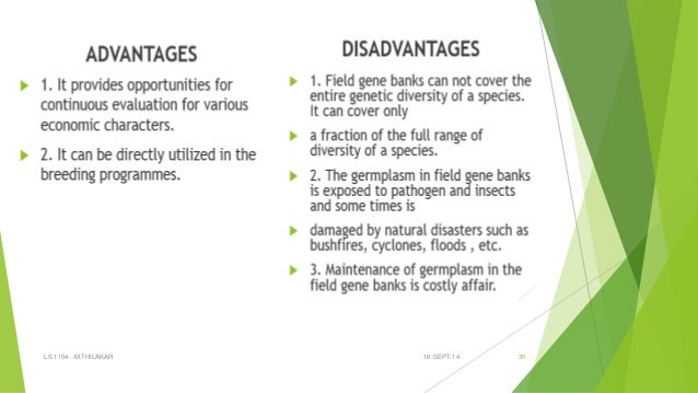 in situ and ex situ conservation methods In situ and ex situ conservation two sides of the same coin key messages • crop wild relatives (cwr) are wild plant species that are related to crops.