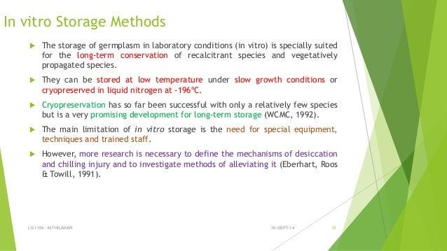 ex situ conservation methods pdf