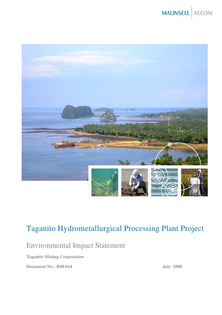 Taganito Hydrometallurgical Processing Plant ProjectEnvironmental Impact StatementTaganito Mining CorporationDocument No.:...