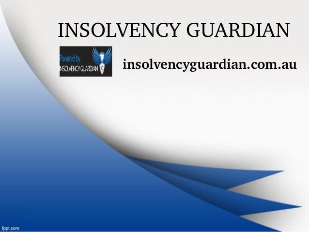 INSOLVENCYGUARDIAN insolvencyguardian.com.au