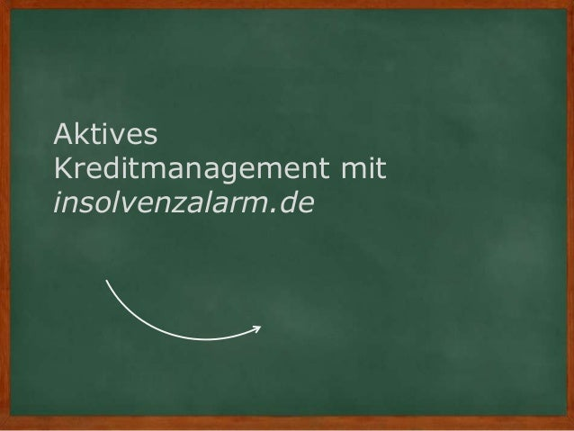Aktives Kreditmanagement mit insolvenzalarm.de