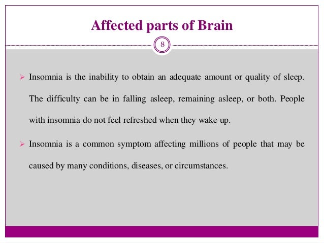 what part of the brain causes insomnia