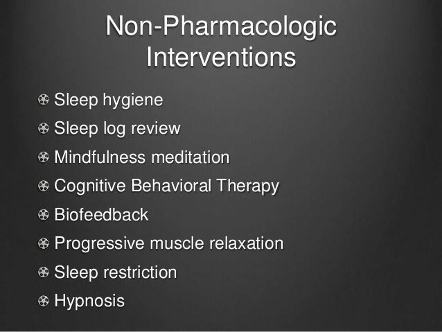 Non pharmacological nursing interventions literature review