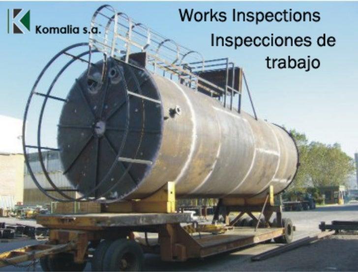 Works Inspections. Inspecciones de trabajos.