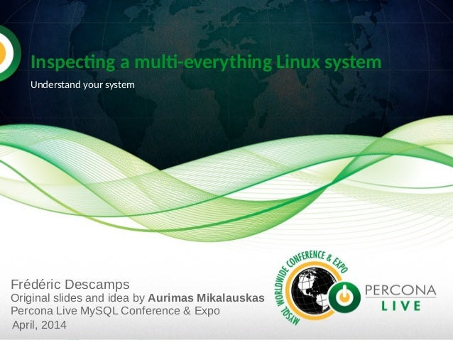 Inspecting a multi-everything Linux system Understand your system Frédéric Descamps Original slides and idea by Aurimas Mi...