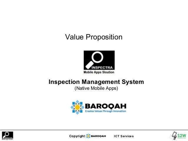 Copyright: ICT Services Value Proposition Inspection Management System (Native Mobile Apps)
