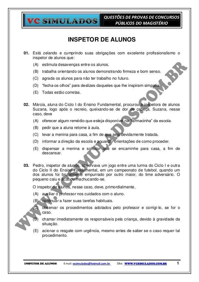 QUESTÕES DE PROVAS DE CONCURSOS                                                       PÚBLICOS DO MAGISTÉRIO              ...