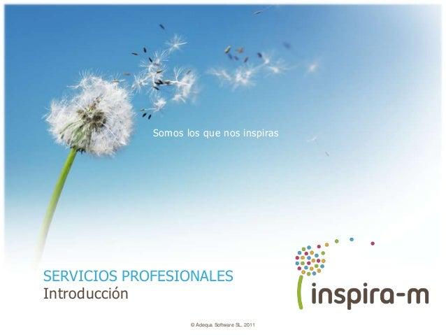 Somos los que nos inspirasSERVICIOS PROFESIONALESIntroducción                    © Adequa Software SL, 2011