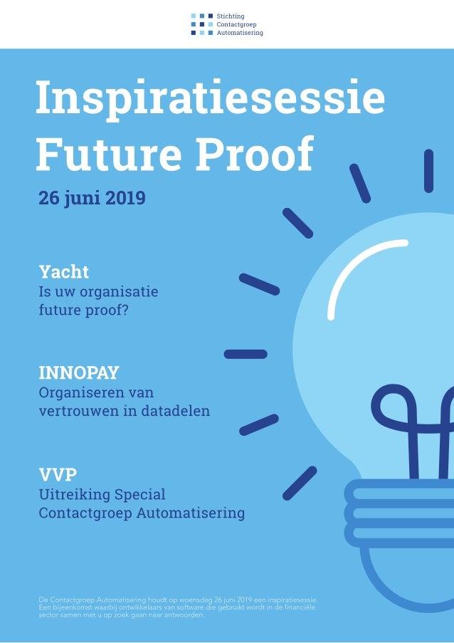 Inspiratiesessie Future Proof - 26 juni 2019