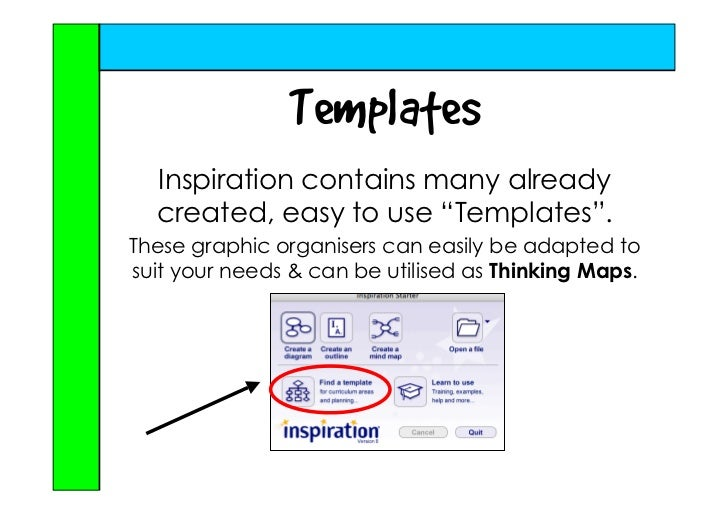 Using Inspiration\\\'s Templates with Thinking Maps