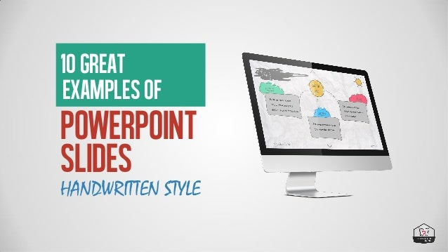 10 Great Examples of Powerpoint Presentations: Handwriting Style