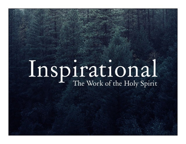 Inspirational the work of the holy spirit today inspirationalthe work of the holy spirit thecheapjerseys Gallery