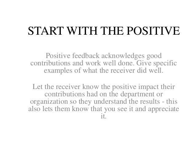 inspirational feedback