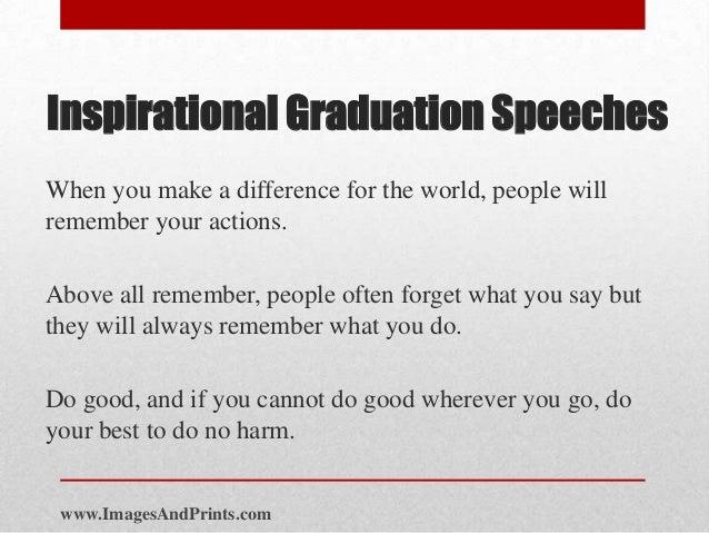 Inspirational graduation speeches – Graduation Speech Examples