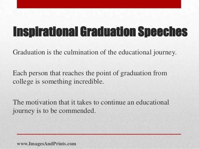 Inspirational Graduation Speeches