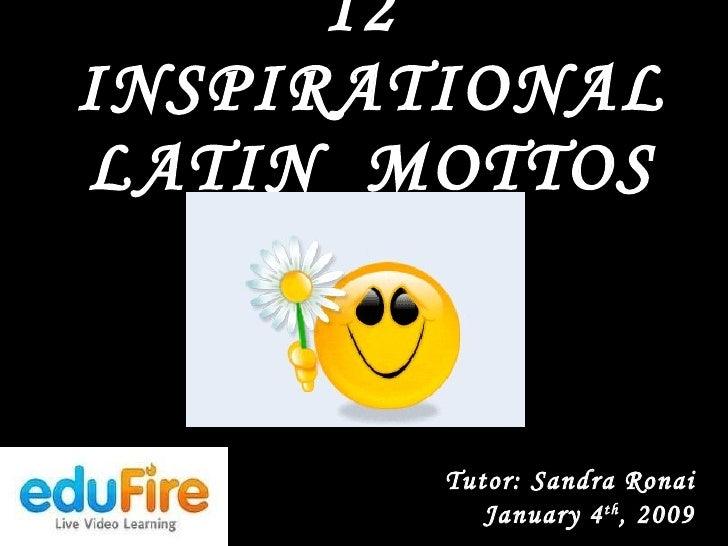 Inspirational Latin Mottos Inspiration Amazing Latin Phrases