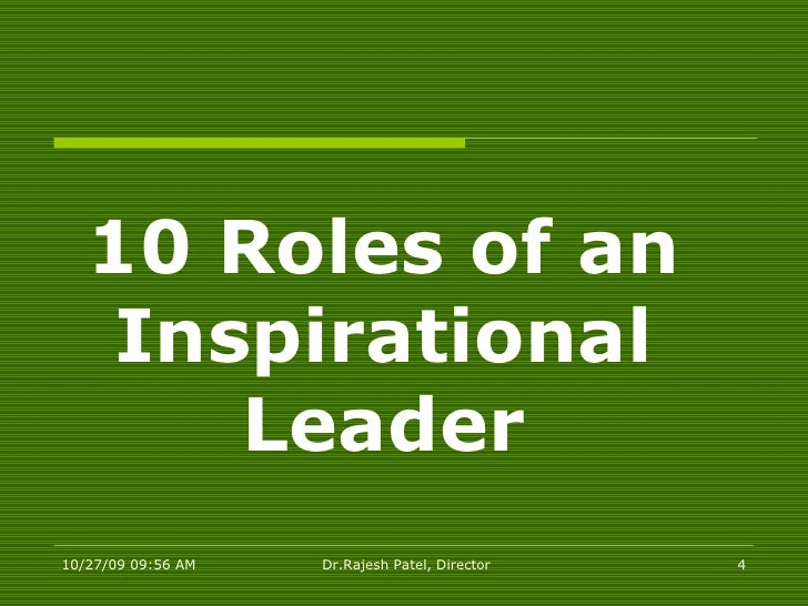 Inspirational Leadership