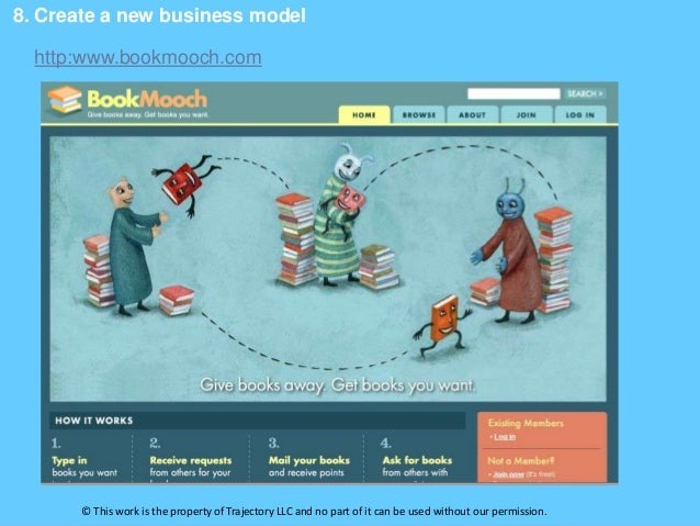 8. Create a new business model  http:www.bookmooch.com       © This work is the property of Trajectory LLC and no part of ...