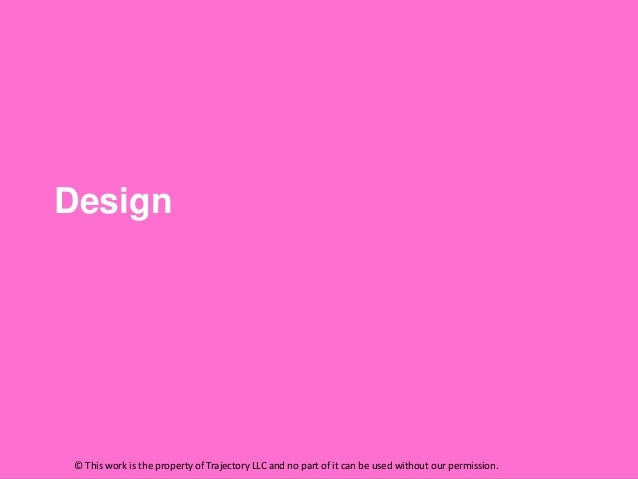 Design © This work is the property of Trajectory LLC and no part of it can be used without our permission.