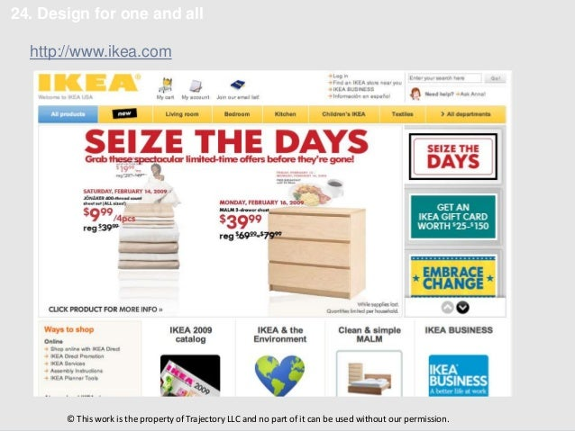 24. Design for one and all  http://www.ikea.com       © This work is the property of Trajectory LLC and no part of it can ...