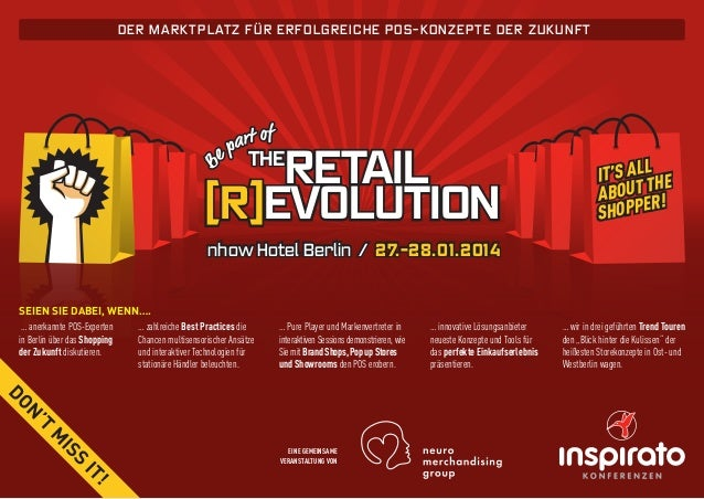 Der MARKTP L AT Z F Ü R ER F O L G RE ICH E PO S -KO N Z EP T E D ER Z U KU N F T  retail [R]Evolution THE  It's all he ab...