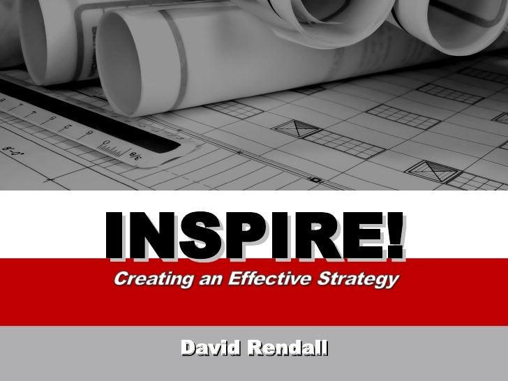 INSPIRE! David Rendall