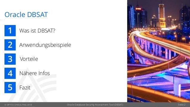 Oracle Database Security Assessment Tool (DBSAT) Slide 2