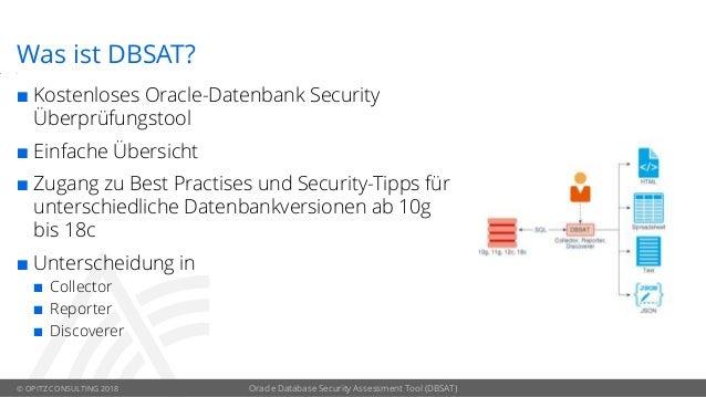 Oracle Database Security Assessment Tool (DBSAT) Slide 3