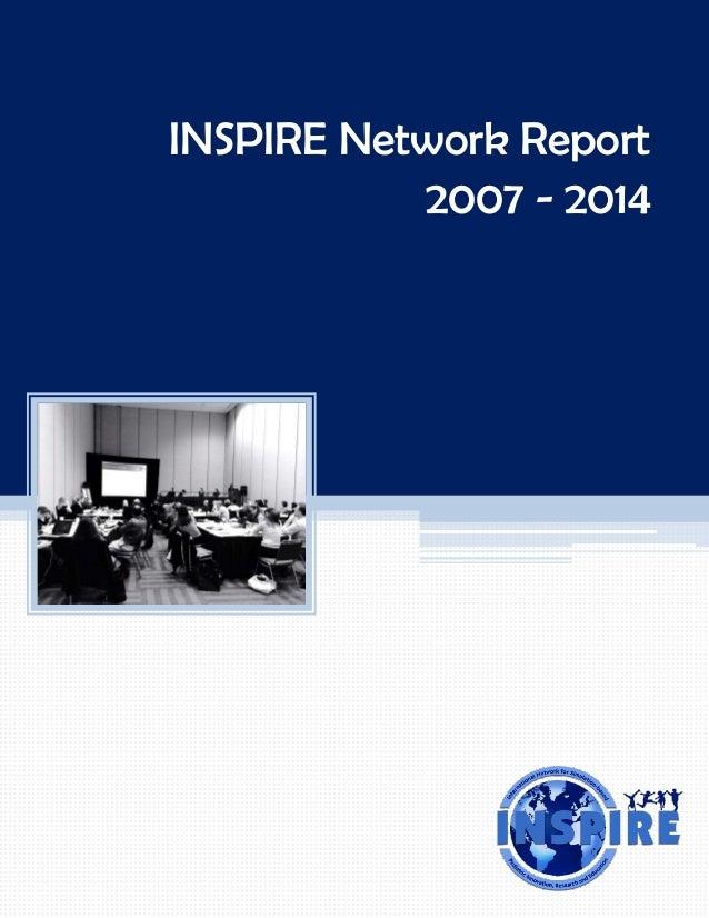 INSPIRE Network Report  2007 -2014