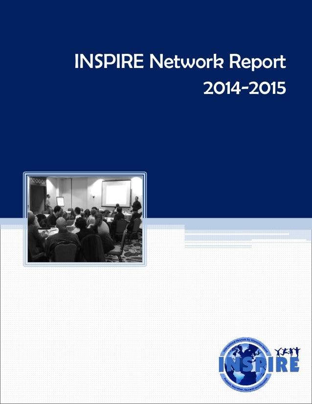 INSPIRE Network Report 2014-2015