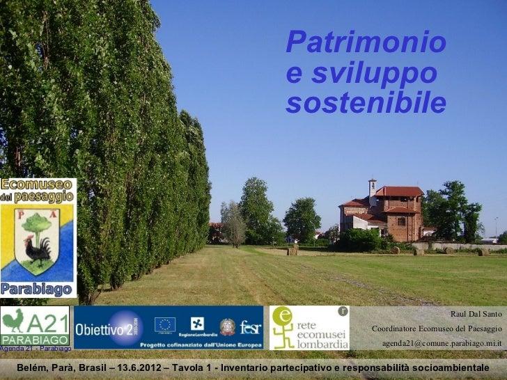 Patrimonio                                                             e sviluppo                                         ...