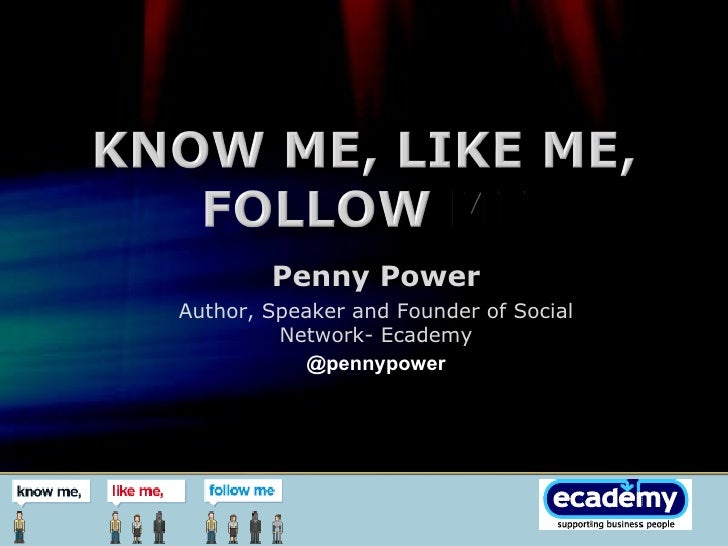 Penny Power Author, Speaker and Founder of Social Network- Ecademy @pennypower