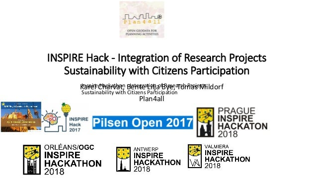 INSPIRE Hack - Integration of Research Projects Sustainability with Citizens Participation Karel Charvat, Bente Lilja Bye,...