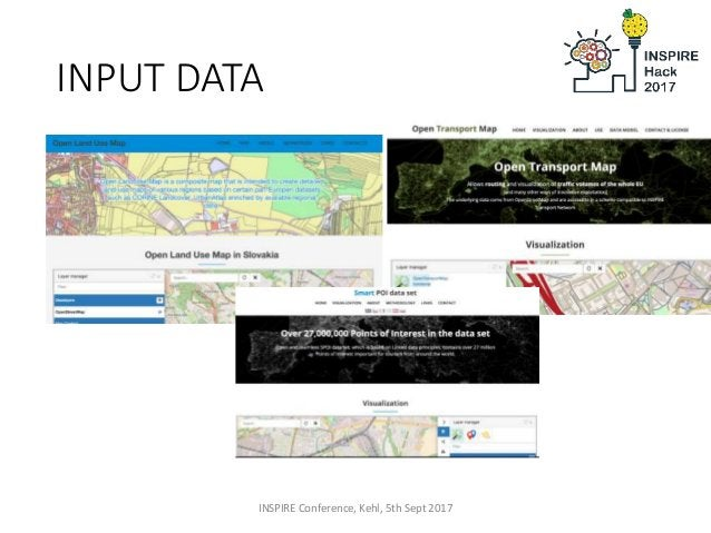 INPUT DATA INSPIRE Conference, Kehl, 5th Sept 2017