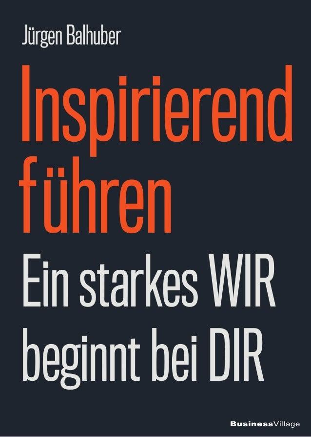 BusinessVillage Inspirierend führen EinstarkesWIR beginntbeiDIR JürgenBalhuber