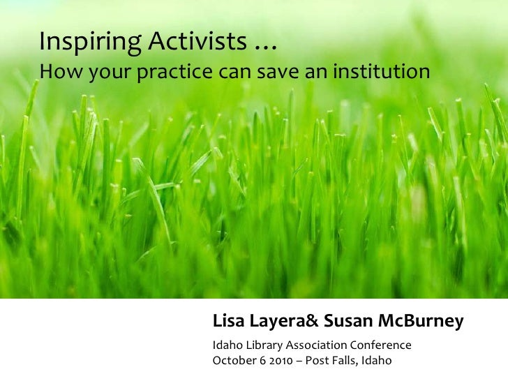 Inspiring Activists