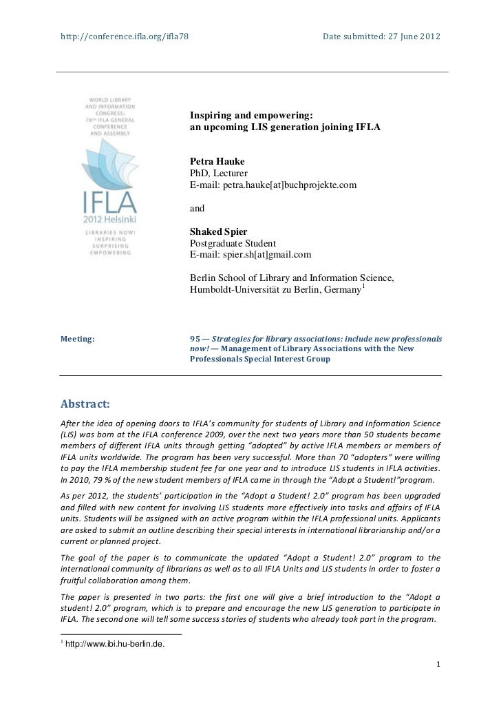http://conference.ifla.org/ifla78                                       Date submitted: 27 June 2012                      ...