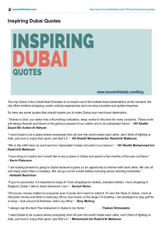 Inspiring Dubai Quotes
