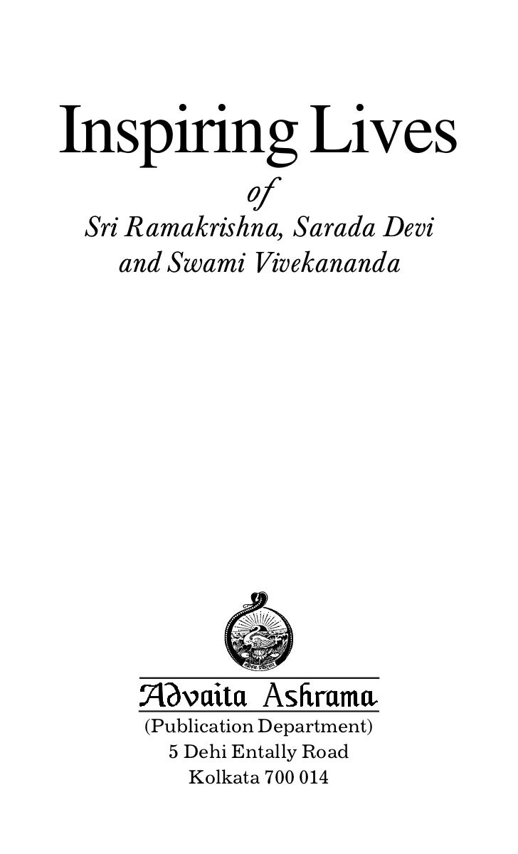 Inspiring Lives              ofSri Ramakrishna, Sarada Devi   and Swami Vivekananda    (Publication Department)      5 Deh...