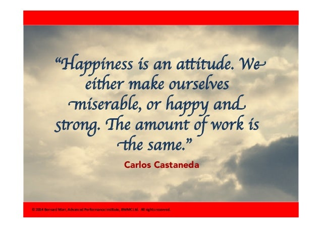 happiness is an attitude we